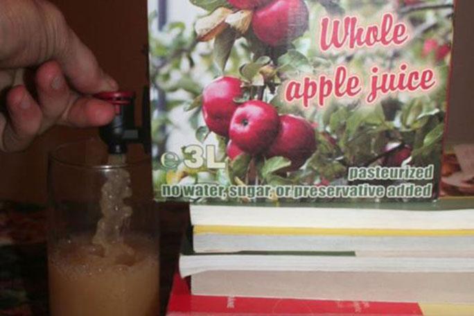 """Suc de mere """"bag in box"""" produs în județul Vâlcea"""